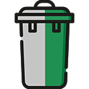 Green grey bin icon