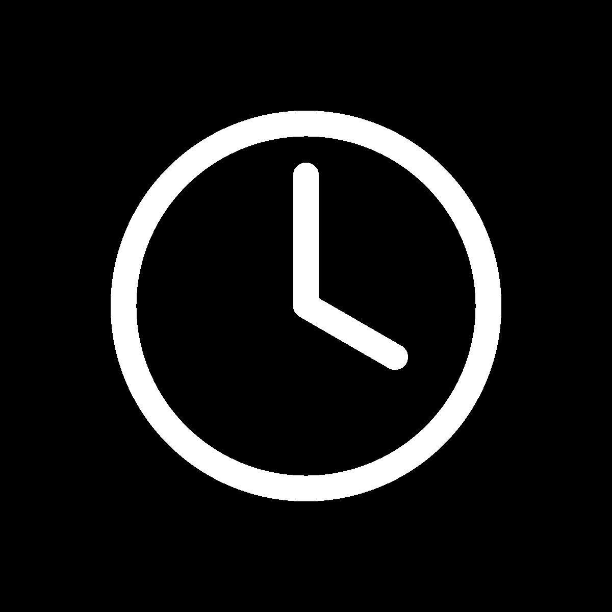 Icon clock white