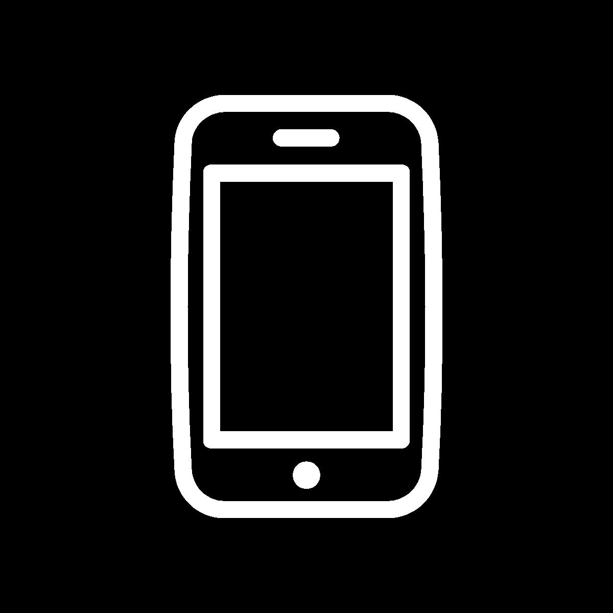 Icon phone white