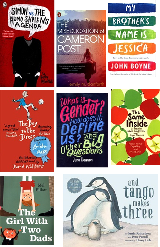 selection of book jackets for recommended reads